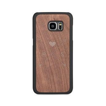 Dřevěné pouzdro na telefon - Samsung Galaxy s7 edge