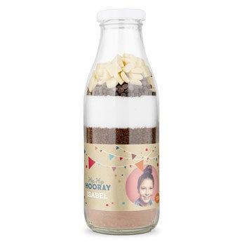 Brownie mistura de cozimento com rótulo personalizado