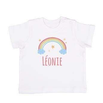 T-shirt bébé - Manches courtes - Blanc - 74/80