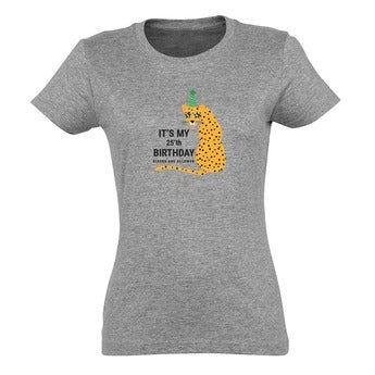 T-shirt - Vrouw - Grijs - M