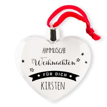 Weihnachtsschmuck - Herz (2)