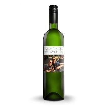 Białe Wino - Belvy - Etykieta ze zdjęciem