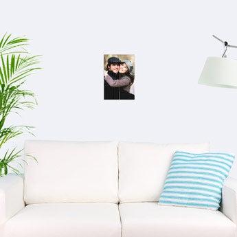 Photo on wooden planks
