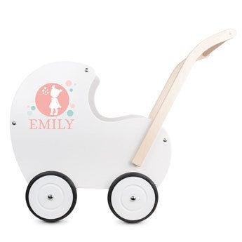 Trä barnvagn