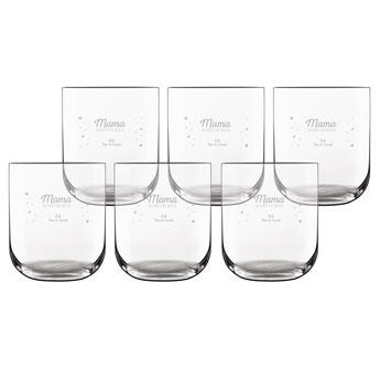 Trinkglas mit Gravur - Deluxe (6 Stück)