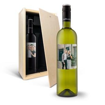 Sauvignon Blanc e Merlot-Rótulo personalizado