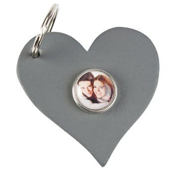 Click Keyring Heart - Grey