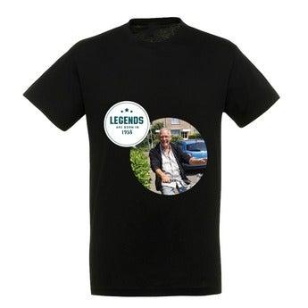 Personalised T-shirt – Men - Black - L