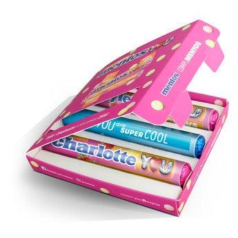 Mentos darčeková krabička - ružová