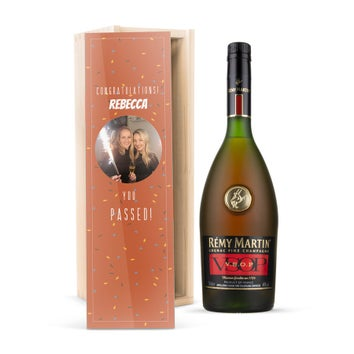 Rémy Martin VSOP brandy in personalised case