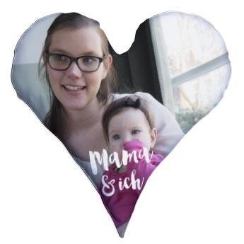 Muttertag Herzkissen bedrucken