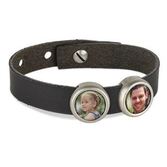 Photo charm bracelet - Black - 2 photos