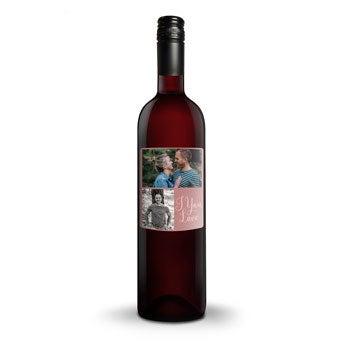 Czerwone Wino - Belvy - Etykieta ze zdjęciem