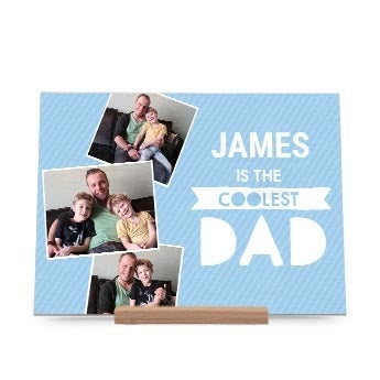 Wooden Father's Day card - Horizontal