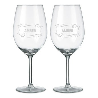 Copas de vino tinto - Set de 2
