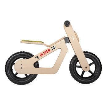 Barn balanse sykkel (tre)