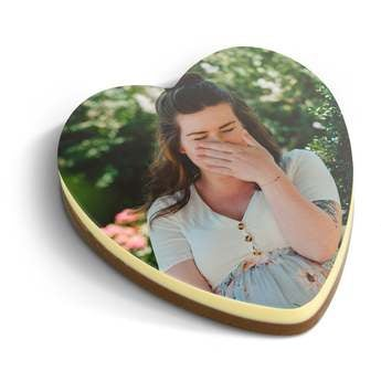 Personalised chocolate photo heart