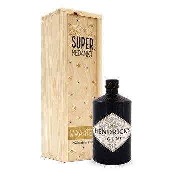 Hendrick's gin - In bedrukte kist