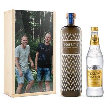 Gin e tonic set - Bobby's Gin - In Confezione Personalizzata