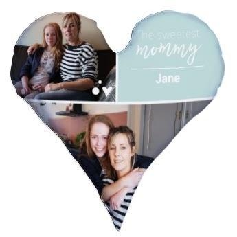 Mothersday heart shaped cushion
