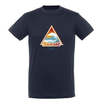 T-paita - Miehet - Sininen - M