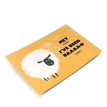 Tarjeta postal - Lo siento - M - Vertical