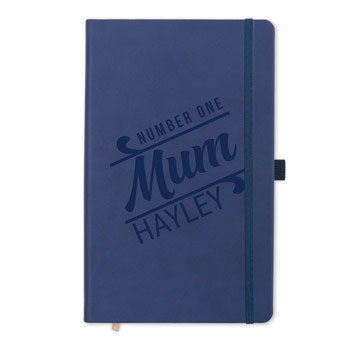 Mother's Day notebook - engraved (blue)