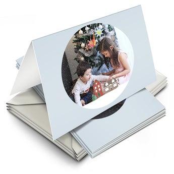 Tarjetas de Navidad con foto - Plegada