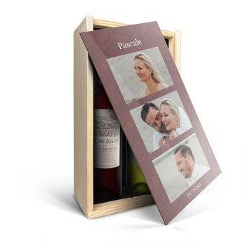 Vin rouge et vin blanc Oude Kaap - Coffret personnalisé