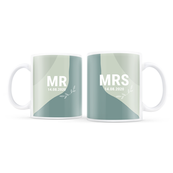 Romantikus csésze készlet