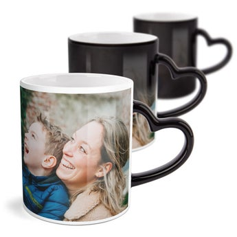 Personalised mug - Magic - Heart-shaped handle