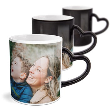 Personalised mug - Magic - Heart-shaped handle