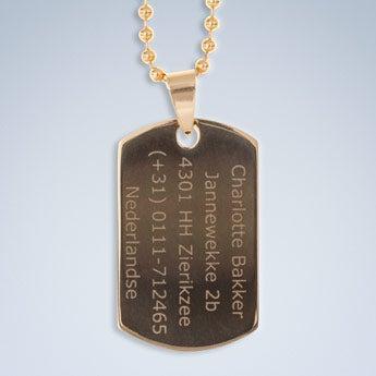 Tag de nome - ouro / prata