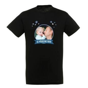 T-shirt Fête des Pères - Noir - XXL