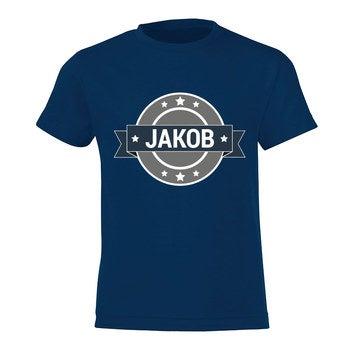 T-Shirt Kinder - Dunkelblau - 10 Jahre