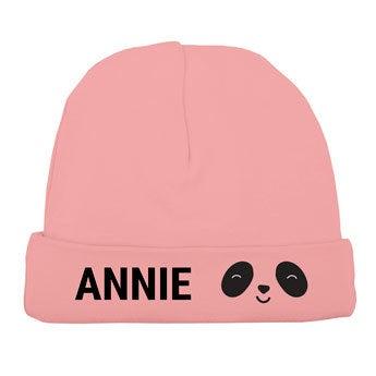 Chapéu do bebê - rosa suave