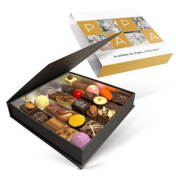 Boîte de chocolat Fête des Pères