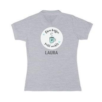 Poloshirt Damen - Grau - L