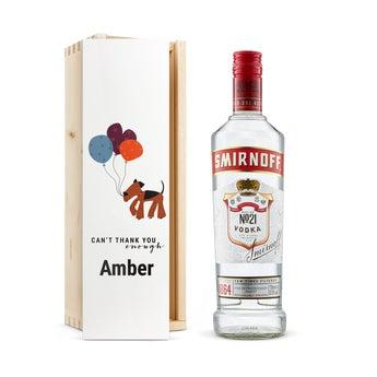 Vodka v gravírování krabici - Smirnoff