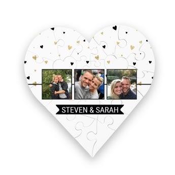 Personalised jigsaw puzzle - Heart - 23 pcs