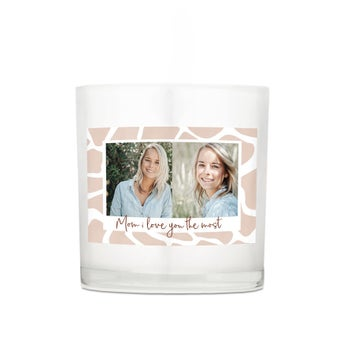 Kerze im Glas - Muttertag - 10 x 10 x 10 cm