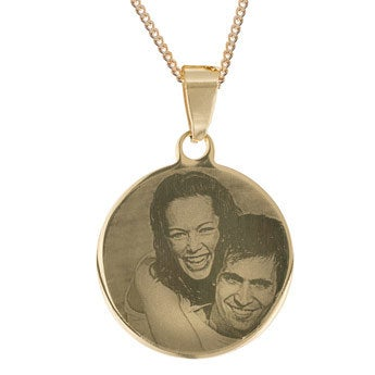 Pendant Round Gold-plated