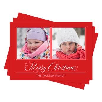 Biglietti natalizi con foto