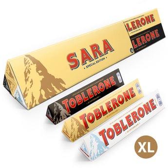 Zestaw czekolad Toblerone XL z logo
