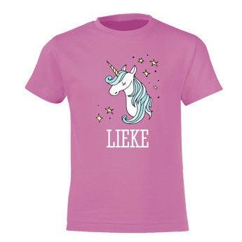 T-shirt - Kids - Roze - 10 jaar