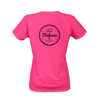Sportshirt bedrucken - Damen - L - Rosa