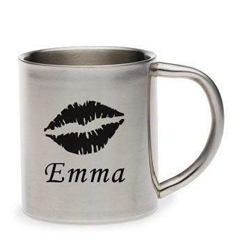Mug métal - personnalisé texte