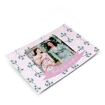 Cartão postal com foto - Obrigado