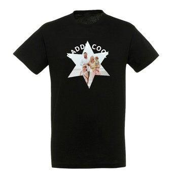 T-paita - Miehet - Musta - XL