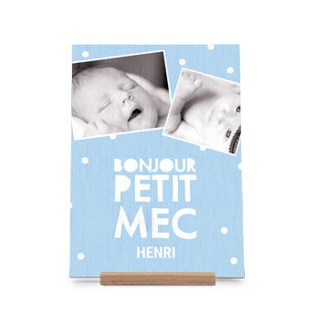 Carte en bois - vertical